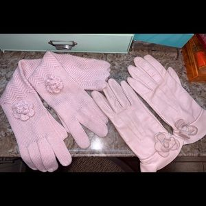 Preston & York leather gloves and acrylic gloves